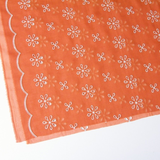 ポリエステル×フラワー(オレンジ)×ボイル刺繍(着分)_全3色 イメージ2