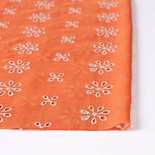ポリエステル×フラワー(オレンジ)×ボイル刺繍(着分)_全3色 イメージ3