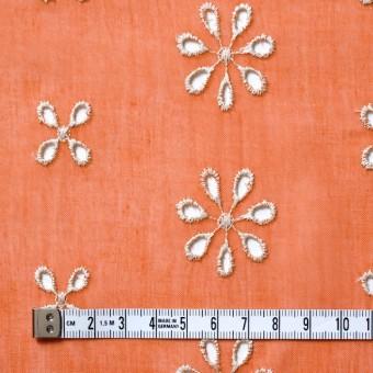 ポリエステル×フラワー(オレンジ)×ボイル刺繍(着分)_全3色 サムネイル4