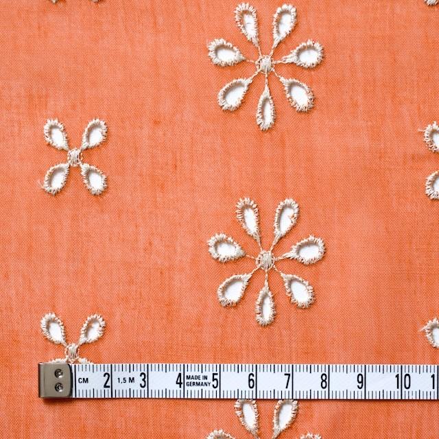 ポリエステル×フラワー(オレンジ)×ボイル刺繍(着分)_全3色 イメージ4