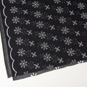 ポリエステル×フラワー(ブラック)×ボイル刺繍(着分)_全3色 サムネイル2