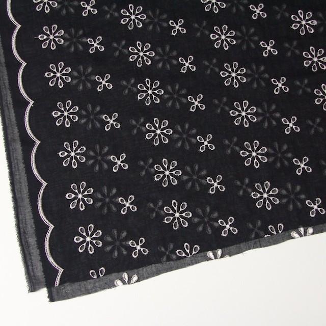 ポリエステル×フラワー(ブラック)×ボイル刺繍(着分)_全3色 イメージ2