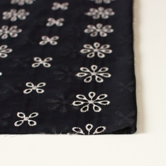 ポリエステル×フラワー(ブラック)×ボイル刺繍(着分)_全3色 サムネイル3