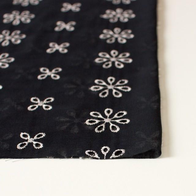 ポリエステル×フラワー(ブラック)×ボイル刺繍(着分)_全3色 イメージ3