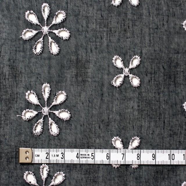ポリエステル×フラワー(ブラック)×ボイル刺繍(着分)_全3色 イメージ4