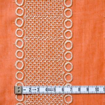 ポリエステル×コラム(オレンジ)×ボイル刺繍(着分)_全3色 サムネイル4