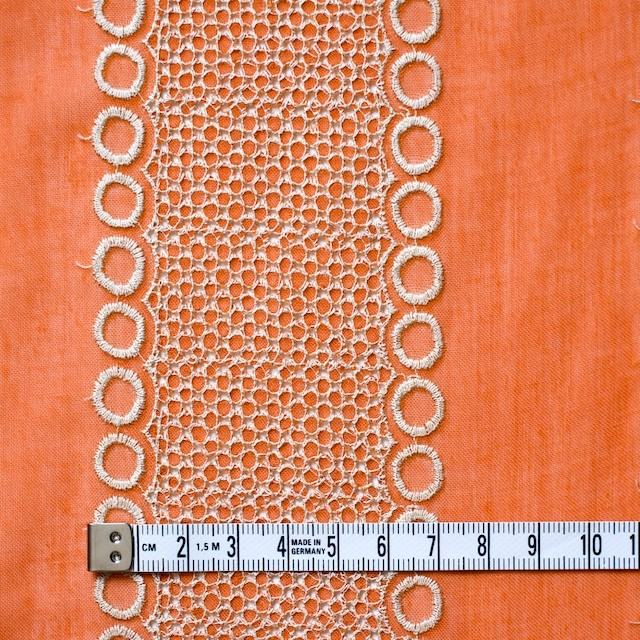 ポリエステル×コラム(オレンジ)×ボイル刺繍(着分)_全3色 イメージ4