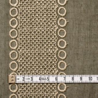 ポリエステル×コラム(カーキグリーン)×ボイル刺繍(着分)_全3色 サムネイル4