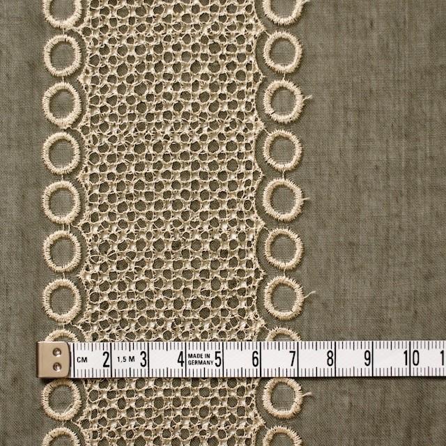 ポリエステル×コラム(カーキグリーン)×ボイル刺繍(着分)_全3色 イメージ4