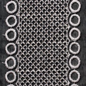 ポリエステル×コラム(ブラック)×ボイル刺繍(着分)_全3色 サムネイル1