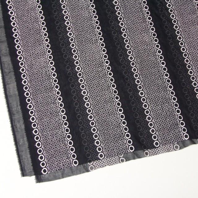 ポリエステル×コラム(ブラック)×ボイル刺繍(着分)_全3色 イメージ2