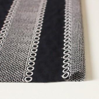ポリエステル×コラム(ブラック)×ボイル刺繍(着分)_全3色 サムネイル3