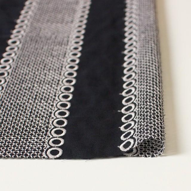 ポリエステル×コラム(ブラック)×ボイル刺繍(着分)_全3色 イメージ3