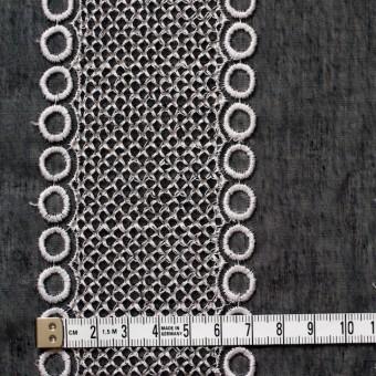 ポリエステル×コラム(ブラック)×ボイル刺繍(着分)_全3色 サムネイル4