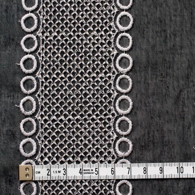 ポリエステル×コラム(ブラック)×ボイル刺繍(着分)_全3色 イメージ4