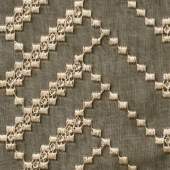 ポリエステル×ウェーブ(カーキグリーン)×ボイル刺繍(着分)_全3色 サムネイル1
