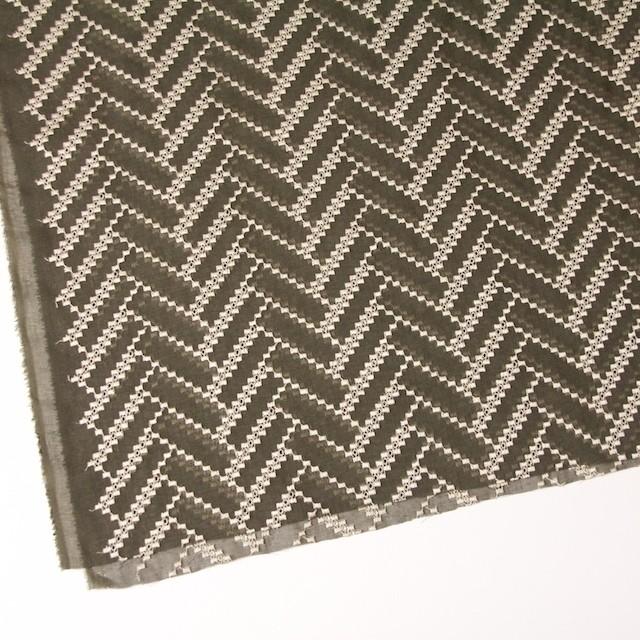 ポリエステル×ウェーブ(カーキグリーン)×ボイル刺繍(着分)_全3色 イメージ2