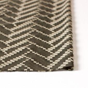 ポリエステル×ウェーブ(カーキグリーン)×ボイル刺繍(着分)_全3色 サムネイル3