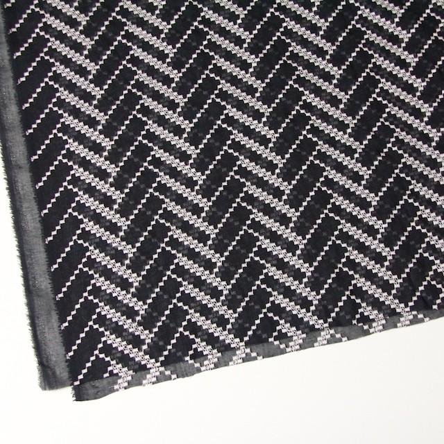 ポリエステル×ウェーブ(ブラック)×ボイル刺繍(着分)_全3色 イメージ2