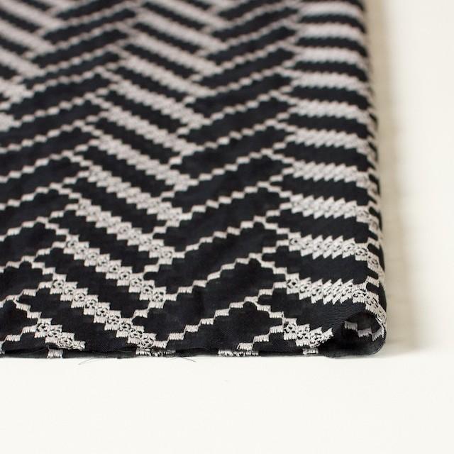ポリエステル×ウェーブ(ブラック)×ボイル刺繍(着分)_全3色 イメージ3