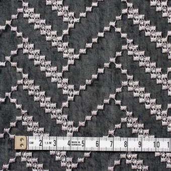 ポリエステル×ウェーブ(ブラック)×ボイル刺繍(着分)_全3色 サムネイル4