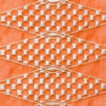 ポリエステル×ダイヤ(オレンジ)×ボイル刺繍(着分)_全2色 サムネイル1