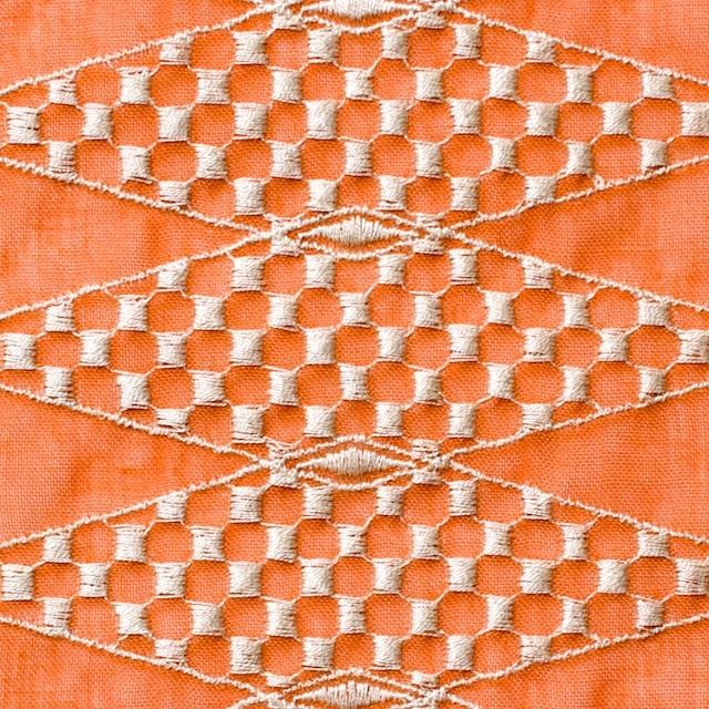 ポリエステル×ダイヤ(オレンジ)×ボイル刺繍(着分)_全2色 イメージ1