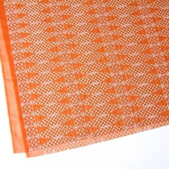 ポリエステル×ダイヤ(オレンジ)×ボイル刺繍(着分)_全2色 サムネイル2