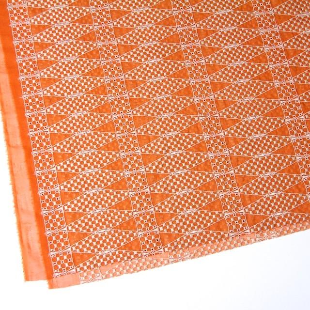ポリエステル×ダイヤ(オレンジ)×ボイル刺繍(着分)_全2色 イメージ2