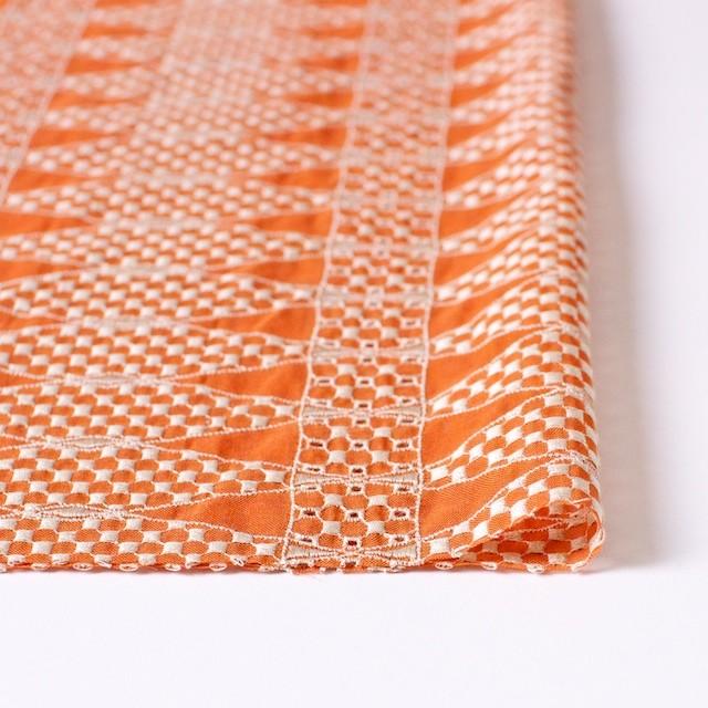 ポリエステル×ダイヤ(オレンジ)×ボイル刺繍(着分)_全2色 イメージ3