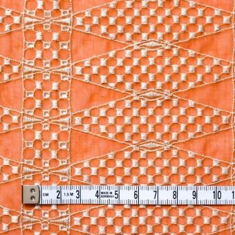 ポリエステル×ダイヤ(オレンジ)×ボイル刺繍(着分)_全2色 サムネイル4