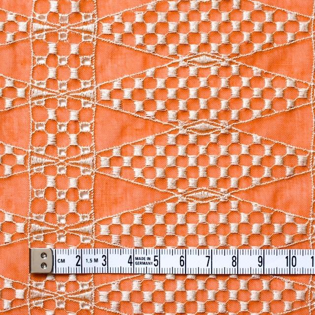 ポリエステル×ダイヤ(オレンジ)×ボイル刺繍(着分)_全2色 イメージ4