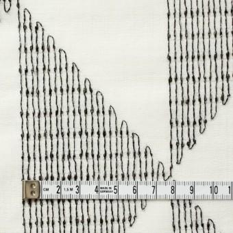 ポリエステル×トライアングル(アイボリー)×ボイル刺繍(着分) サムネイル4