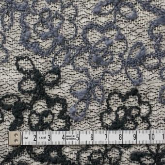 コットン&レーヨン混×フラワー(ダークミックス)×オーガンジー刺繍(着分) サムネイル4