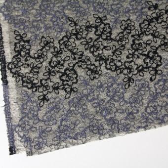 コットン&レーヨン混×フラワー(ダークミックス)×オーガンジー刺繍(着分) サムネイル2