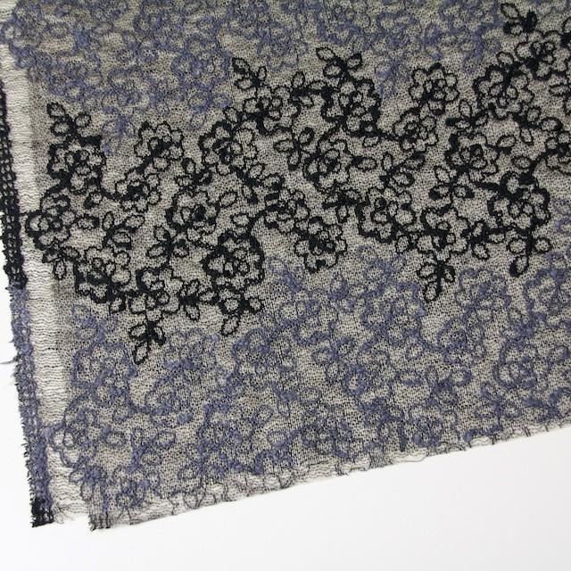 コットン&レーヨン混×フラワー(ダークミックス)×オーガンジー刺繍(着分) イメージ2