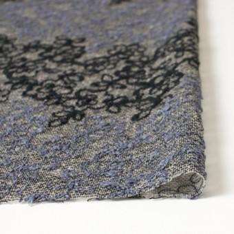 コットン&レーヨン混×フラワー(ダークミックス)×オーガンジー刺繍(着分) サムネイル3