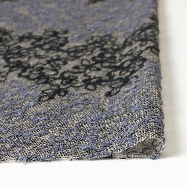 コットン&レーヨン混×フラワー(ダークミックス)×オーガンジー刺繍(着分) イメージ3