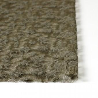 ナイロン×フラワー(カーキグリーン)チュール刺繍(着分) サムネイル3