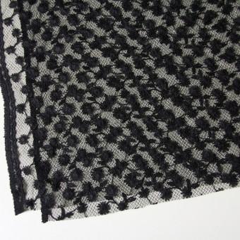 ナイロン×フラワー(ダークネイビー)チュール刺繍(着分) サムネイル2