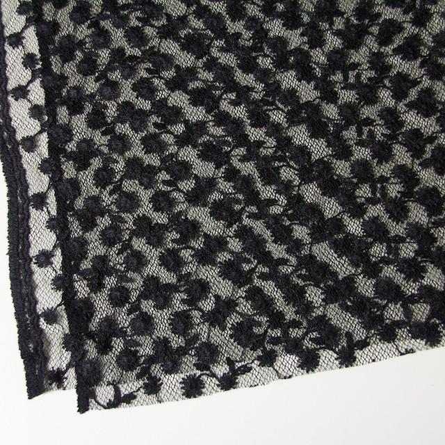 ナイロン×フラワー(ダークネイビー)チュール刺繍(着分) イメージ2