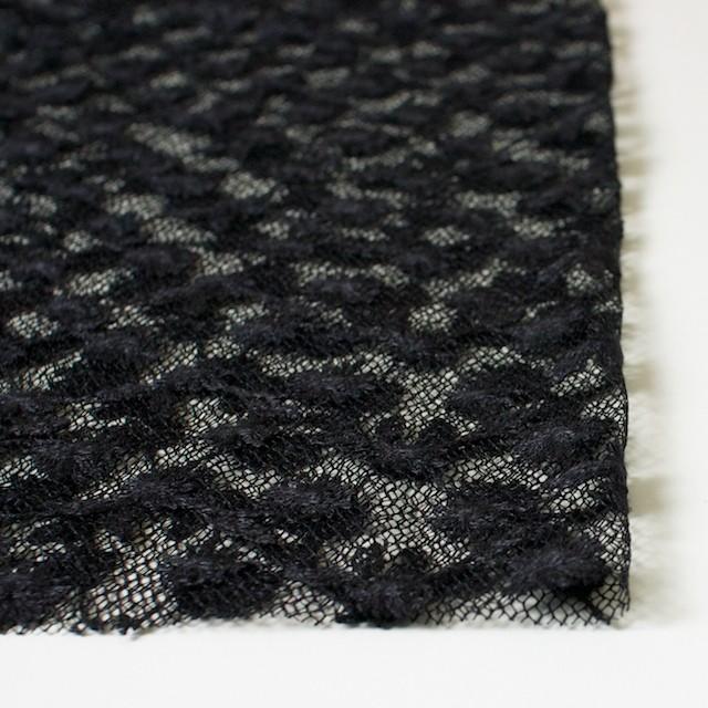 ナイロン×フラワー(ダークネイビー)チュール刺繍(着分) イメージ3