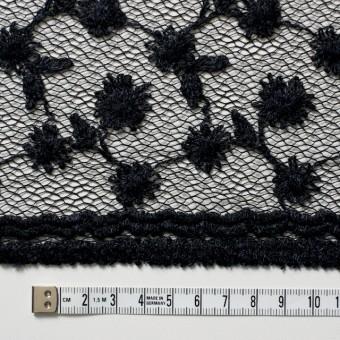 ナイロン×フラワー(ダークネイビー)チュール刺繍(着分) サムネイル5