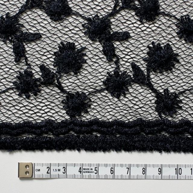 ナイロン×フラワー(ダークネイビー)チュール刺繍(着分) イメージ5