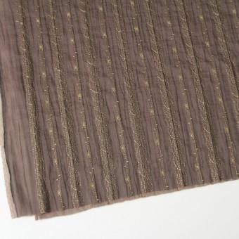 ポリエステル×幾何学模様(ミルクチョコ)×オーガンジー&チュール刺繍(着分) サムネイル2