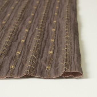 ポリエステル×幾何学模様(ミルクチョコ)×オーガンジー&チュール刺繍(着分) サムネイル3