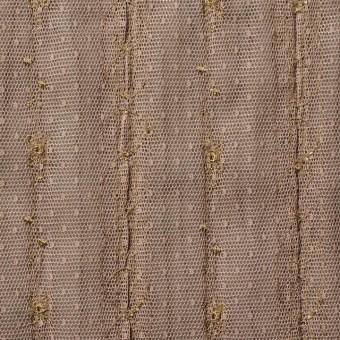ポリエステル×幾何学模様(ミルクチョコ)×オーガンジー&チュール刺繍(着分) サムネイル5