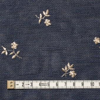 ポリエステル×フラワー(グレイッシュブルー)×メッシュ刺繍(着分) サムネイル1