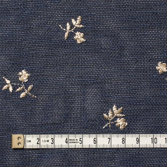 ポリエステル×フラワー(グレイッシュブルー)×メッシュ刺繍(着分) イメージ1
