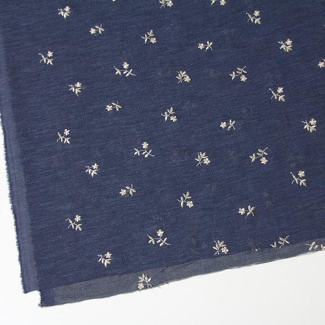 ポリエステル×フラワー(グレイッシュブルー)×メッシュ刺繍(着分) イメージ2